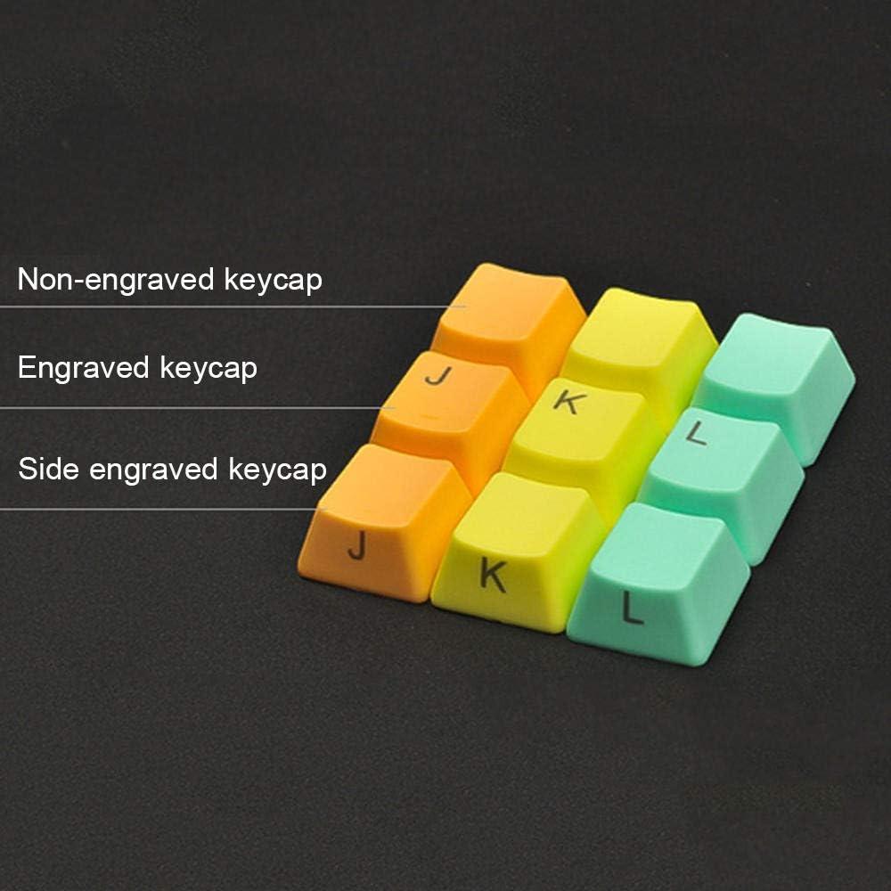 125 claviers mécaniques Pbt Oem Height Keycaps, rétroéclairés compatibles avec le clavier Mx Axis (y compris extracteur de clés) Toile
