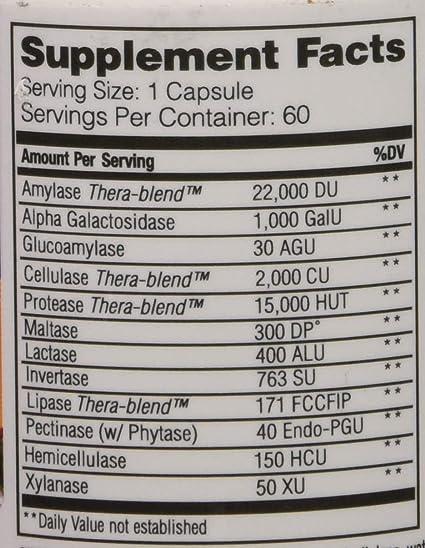 Enzymedica VeggieGest 60 Capsules: Amazon.es: Salud y ...