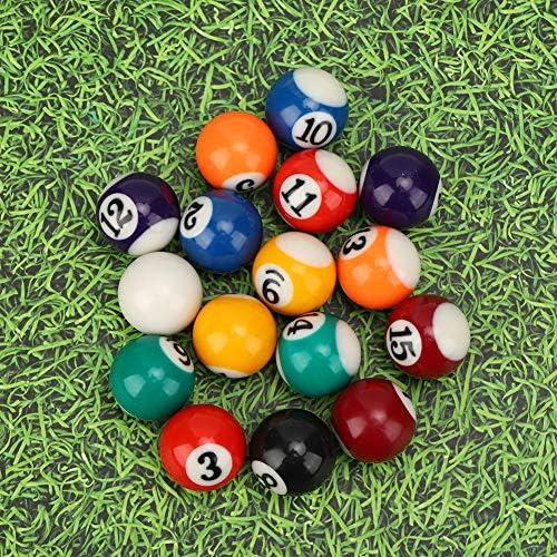 Keenso Boules de Billard 16 pi/èces Table de Billard pour Enfants Mini Boules de Billard en r/ésine 38mm Accessoires de Billard am/éricain