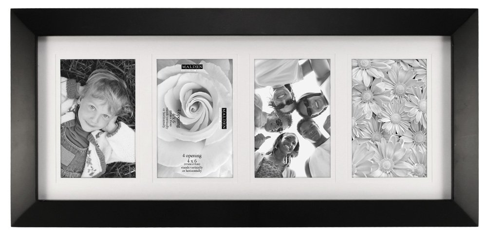 Amazon.com: Malden 4x6 4-Opening Collage Matted Picture Frame ...