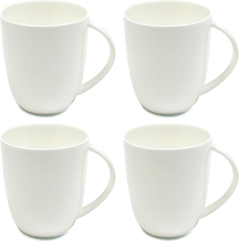White Large Coupe Style Designer Bone China Mugs 420 ml 4 Pieces Maxwell /& Williams Cashmere Coffee Mug Set