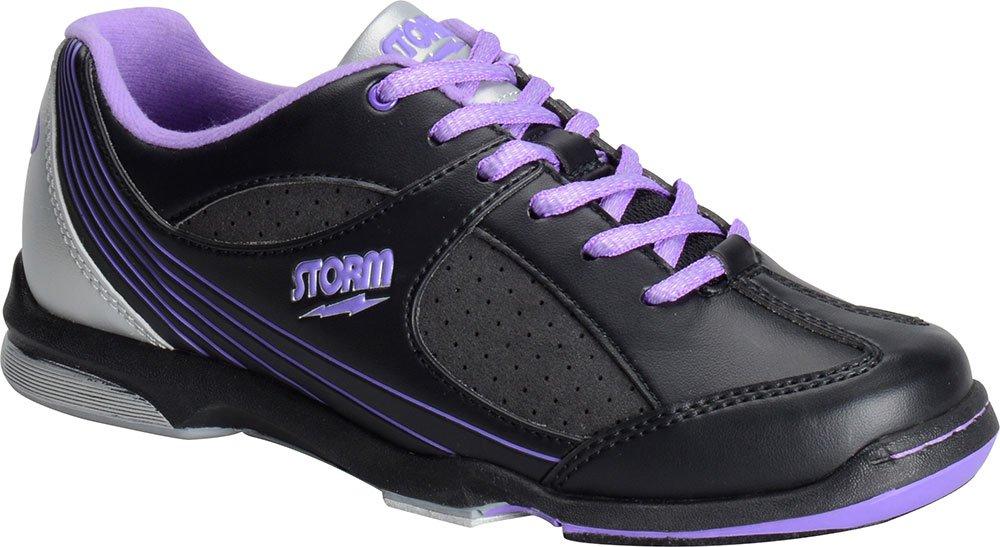 Storm Windy Black/Violet/Silver Women's Bowling Shoes, Size 8