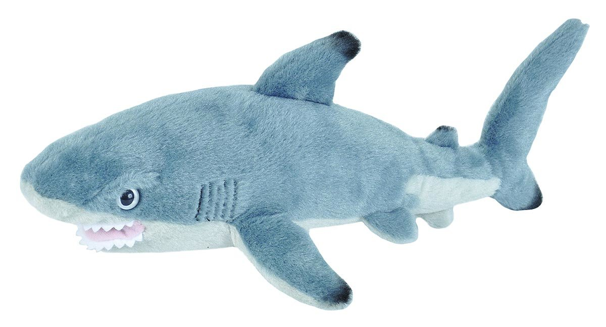 Wild Republic Black Tipped Shark Plush, Stuffed Animal, Plush Toy Gifts for Kids, Cuddlekins 13 Inches