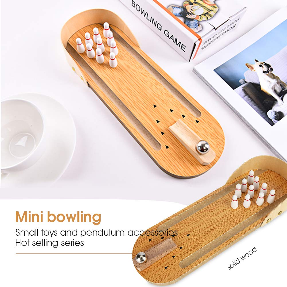 /Mini Tabletop Bowling Toy Merssyria Best Interactive Desktop Game for Kids and Adults