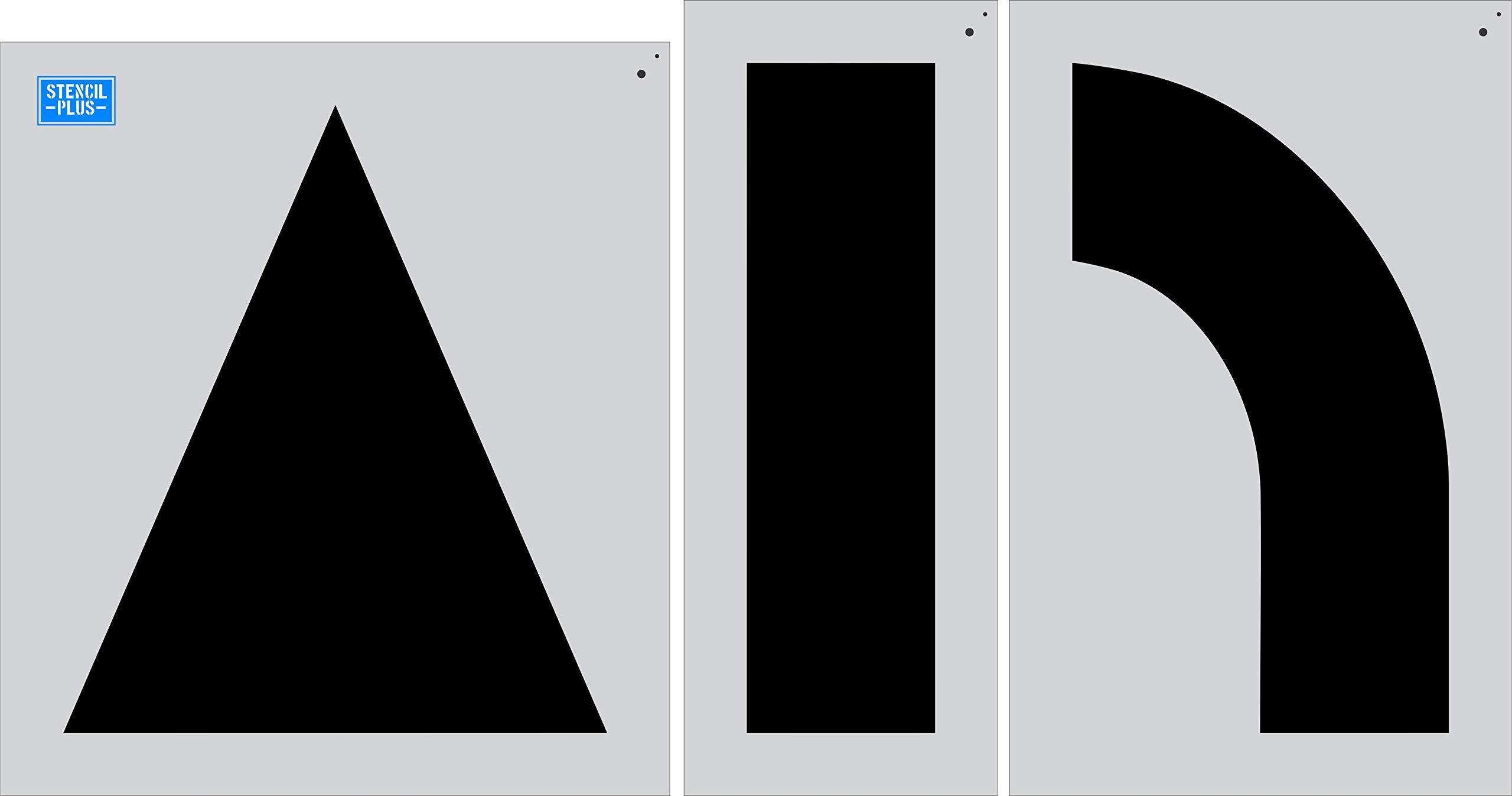 62'' Arrow Combo Kit 3 pc Stencil Parking Lot Stencil Pavement Marking Stencil by Stencil Plus