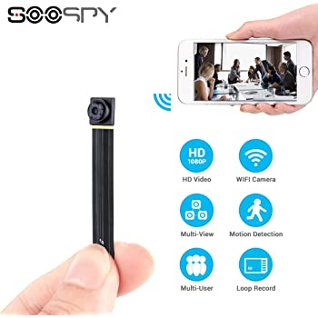 1080P Wireless WiFi Mini Camera- SOOSPY Indoor Outdoor Portable Small Security Camera/Nanny Cam with Motion Detection(iOS&Android)