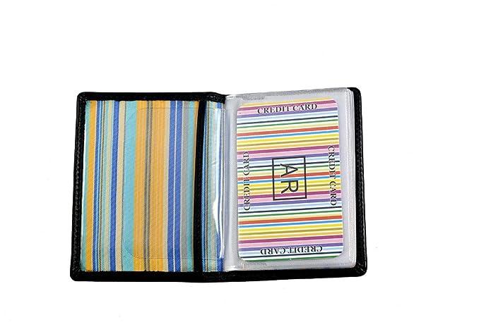 Tarjetero para tarjetas de crédito de Piel (Marrón): Amazon.es: Zapatos y complementos