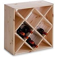 Zeller 13171 Botellero, Madera, Marrón, 52x25x52 cm