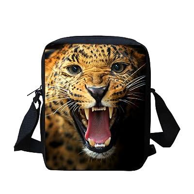 3d Tiger Small Messenger Bag for School Lightweight Travel Satchel Bags