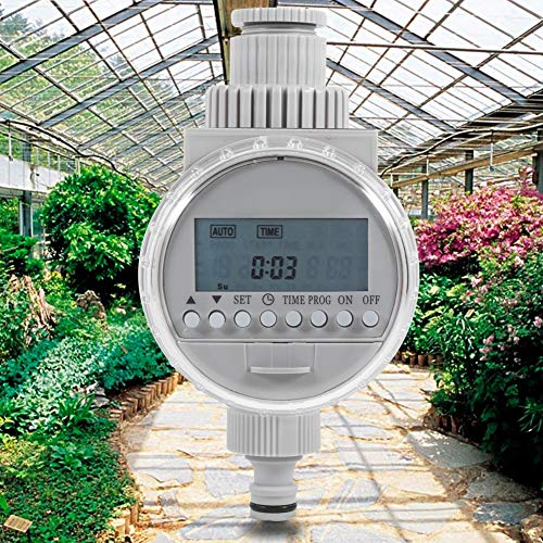 Delaman Solar Auto Irrigation Timer, LCD Digital Watering Timer, Water Saving Irrigation Controller