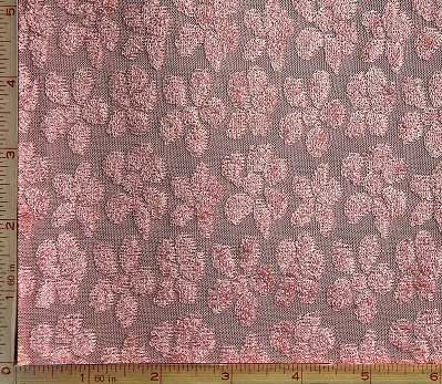 Dusty Rose Pink Jacquard Burnout Fabric 2 Way Stretch Polyester 8 Oz 58-60