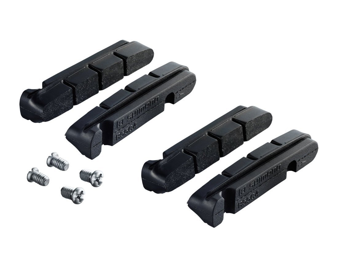 2 Pairs Shimano Brake Pads R55C4 Dura Ace/Ultegra/105 with Fixing Bolts, Factory Number: Y-8L298062