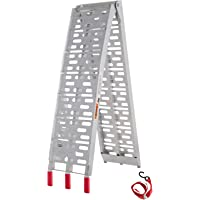 340kg 2.3M Folding Aluminum ATV Loading Ramp Motorcycle Truck Trailer, Easily and Safely Load and Unload Light Equipment