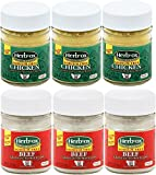 Sodium Free Beef and Chicken Broth Powder – Unsalted Bouillon Granules Mix Bundle of 6 Total