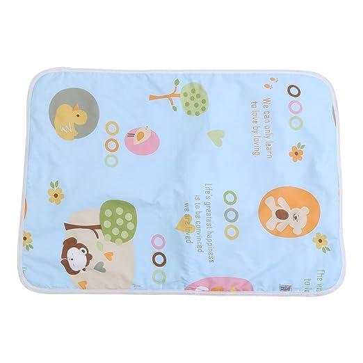 Cuna de bebé Cojín de colchón Infantil impermeable de algodón Cubierta de esterilla de orina Protector de sábanas de pañales Reutilizables Cama de ...