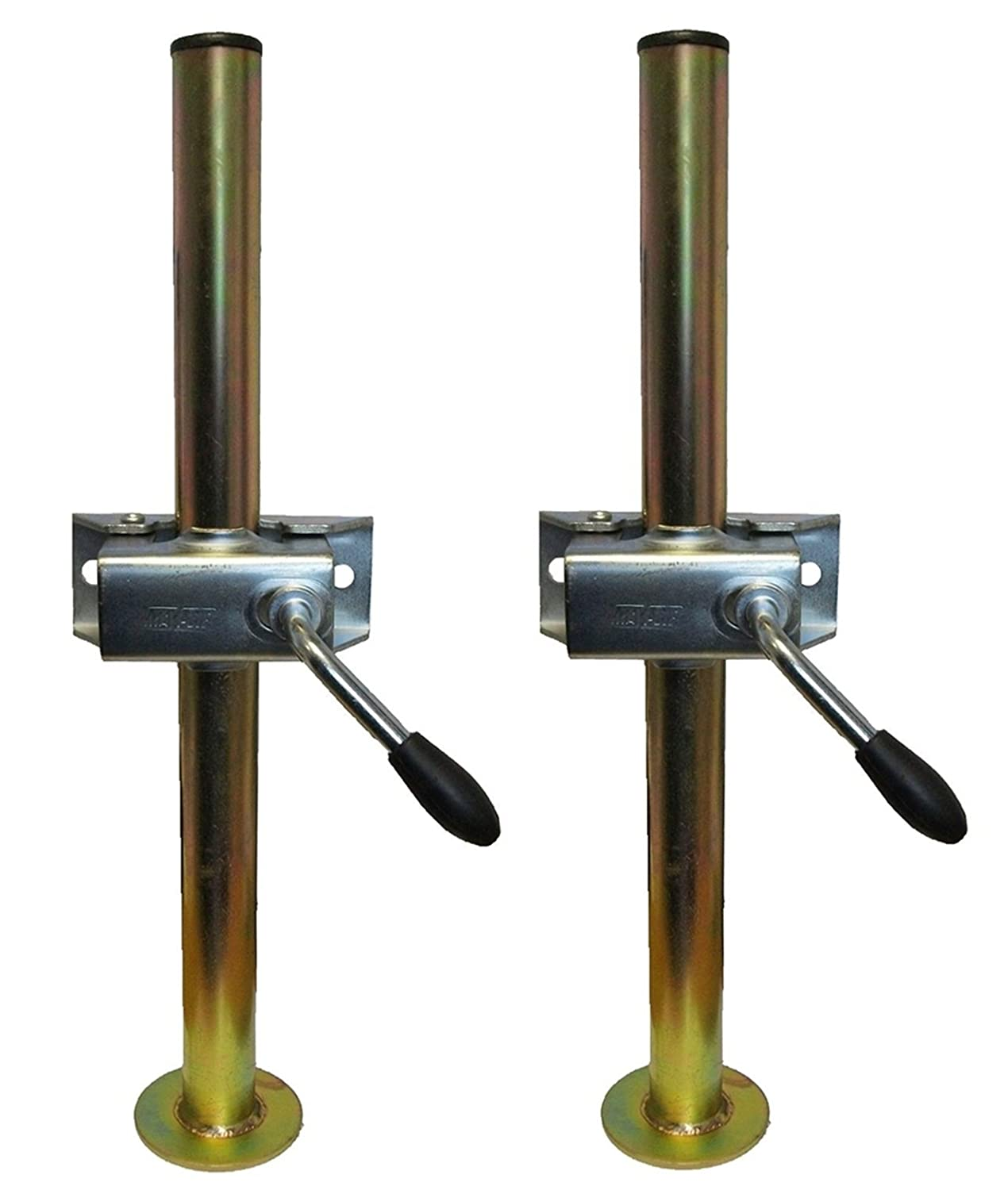 leisure MART A pair of trailer prop stands corner steadys 34mm diameter x 460mm length with split clamps Pt no. LMX1508