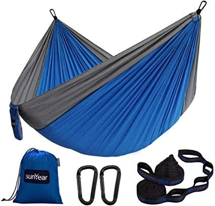 L Camping Yard 106 W Lightweight Nylon Portable Hammock x 55 Best Parachute Double Hammock for Backpacking Beach Travel Double Camping Hammock