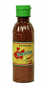 Valentina Salsa Chili Powder   All Natural, Fruit Dry Seasoning Salt and Lime Perfect for Fruits, Chips Great With Snacks and Many Other Dishes or More, 4.93 Ounce Bottle (140 Gram)