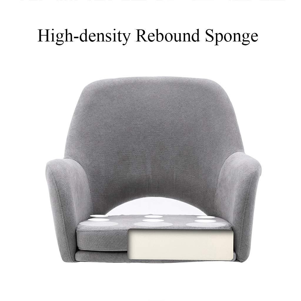 YLMF Ergonomisk skrivbordsstol flanell kudde och ryggstöd mode kontorsstol höjd justerbar och fixerat armstöd femstjärniga stålfötter BLÅ