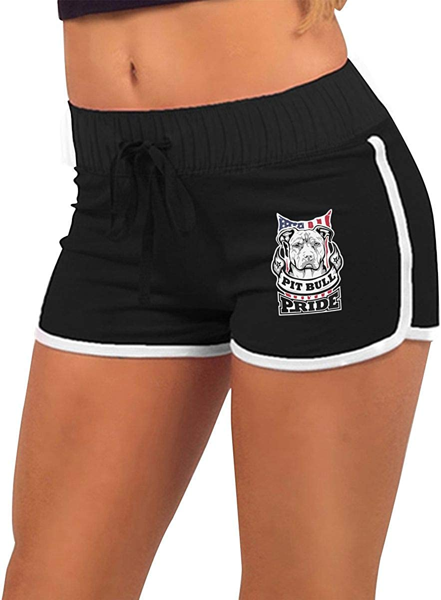 Pit Bull Pride Womens Low-Waist Hot Pants Athletic Exercise Short