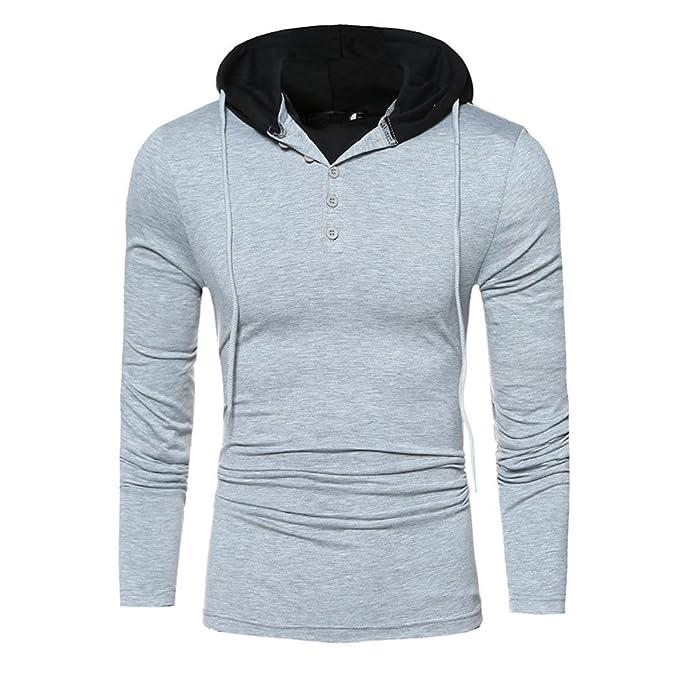 Hombre YiYLinneo Sudadera Capucha Chaqueta de Las Hoodies For Men la Manga de Hombres Outwear Tops La Camisa Vintage Abrigos Camisas Tops: Amazon.es: Ropa y ...