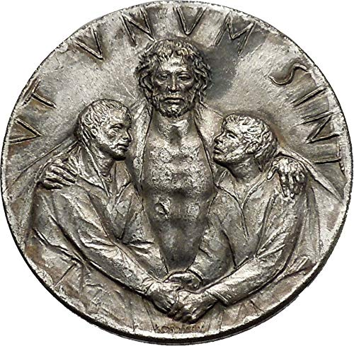 Authentic Ancient Greek Roman Coins & More Vatican 1975 Holy Year Jubilee Basilicas of Rome Jesus Christ Medal i44400