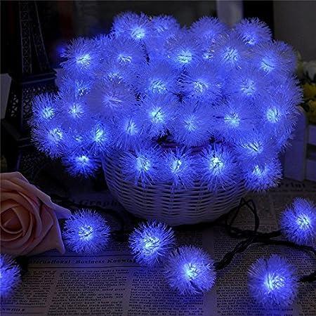 luces solares en cadena decorativas a prueba de agua fiesta azul luz led 2pack
