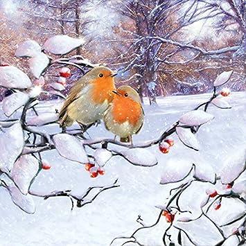 inverno Natale Tovaglioli di carta Christmas Starline Gold Lunch Party festa circa 33 x 33 cm per autunno