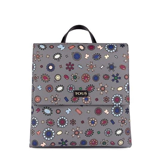 Tous Mochila Teatime, Bolso Mujer, Multicolor (Gris/Negro), 14x24x28 cm (W x H x L): Amazon.es: Zapatos y complementos