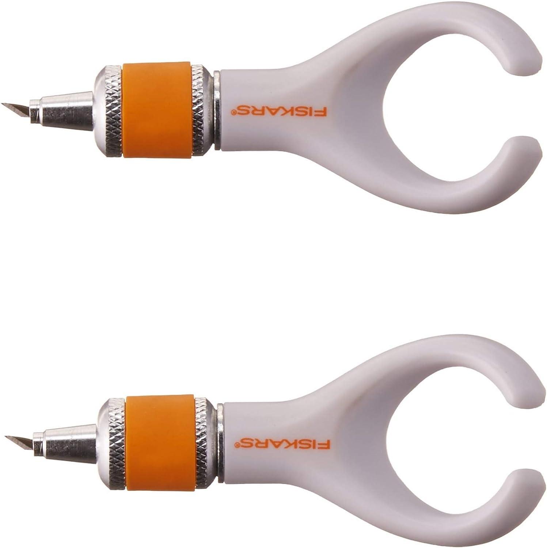 Fiskars Fingertip Swivel Detail Knife (165130-1001), 2 Pack