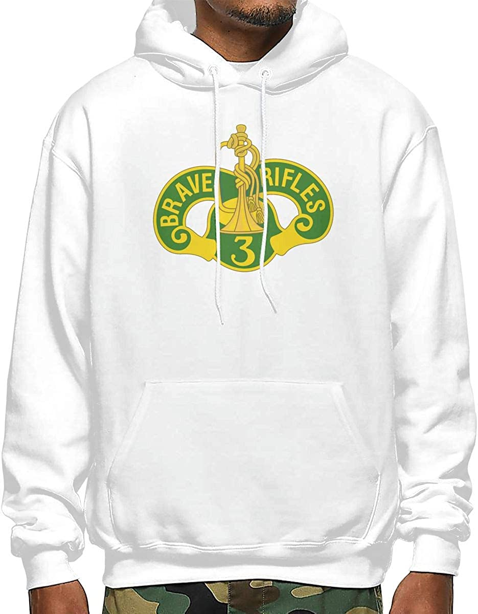 TBTOP Mens 3rd Cavalry Regiment Brave Rifles Graphic Hoodies Hooded Sweatshirt Pullover Tops