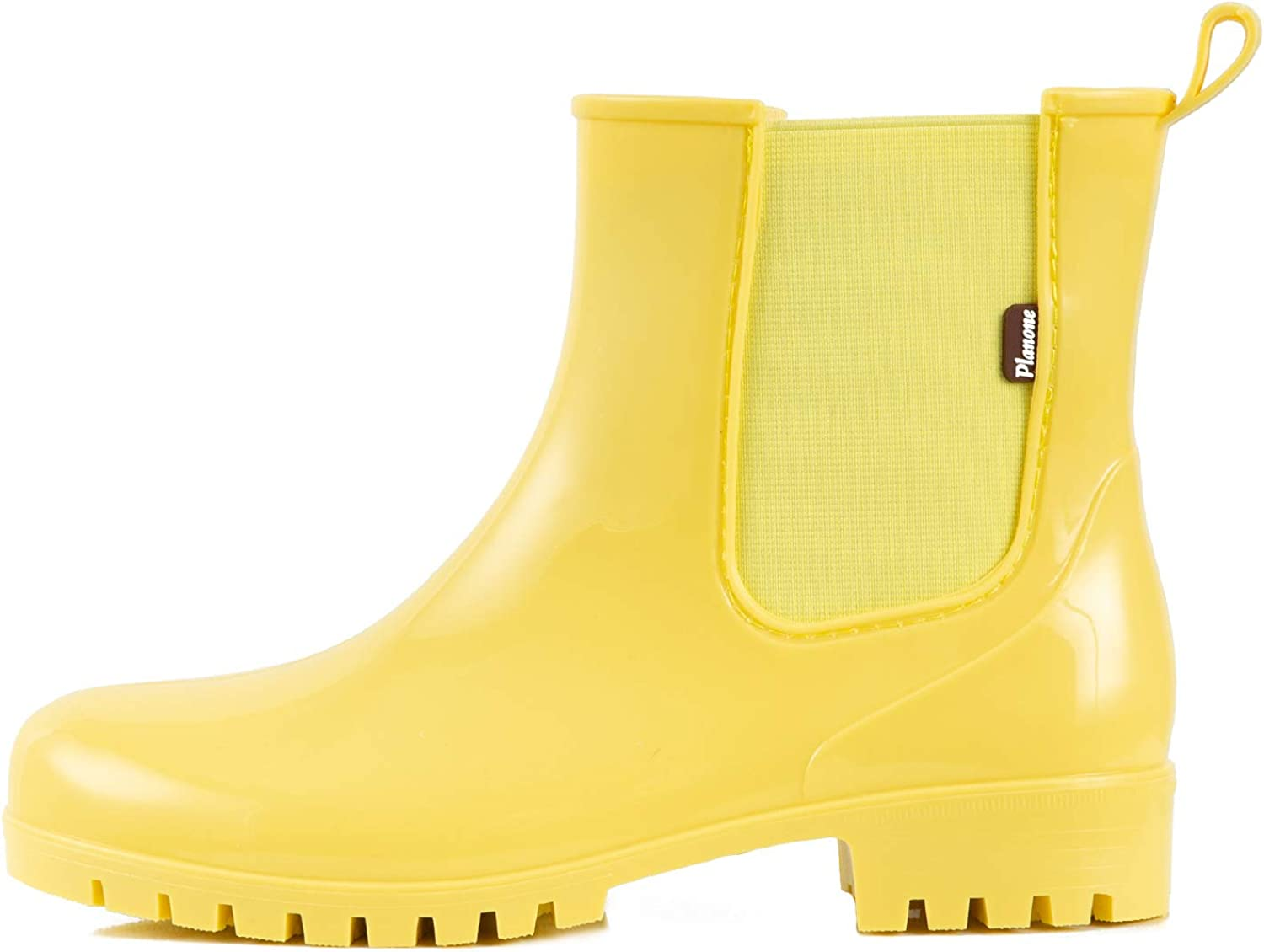 planone Short rain Boots for Women and Waterproof Garden Shoes,Anti-Slipping White Chelsea Rainboots for Ladies with Comfortable Insoles,Stylish Light Ankle rain Shoes and Outdoor Work Shoes
