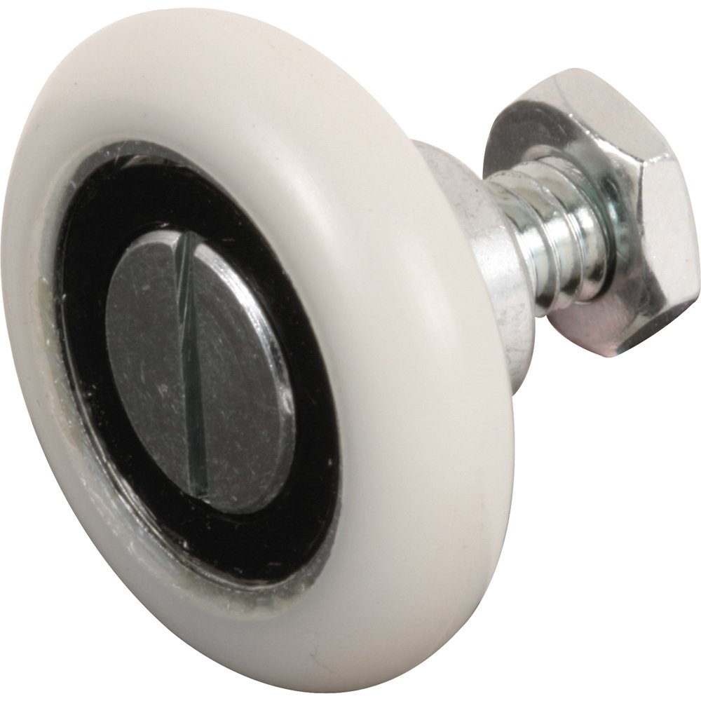 Prime-Line Products R 7228 Drawer Slide Roller, 1-1/8 in. Outside Diameter, Plastic Wheel, Convex, Ball Bearing (Pack of 2)