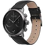 Nordgreen Pioneer - Reloj cronógrafo para hombre, esfera negra, metal 42 mm y correas intercambiables
