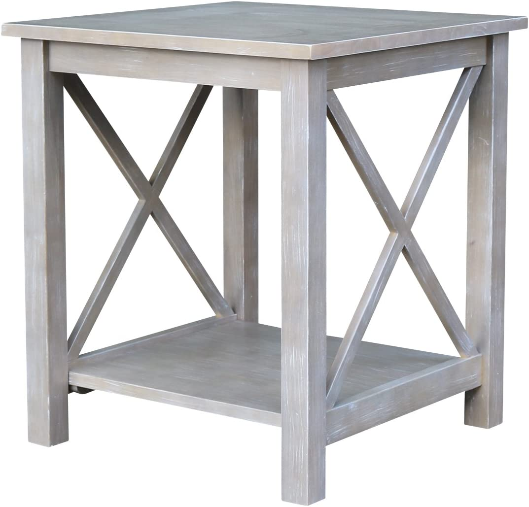 International Concepts Table, Washed Gray Taupe