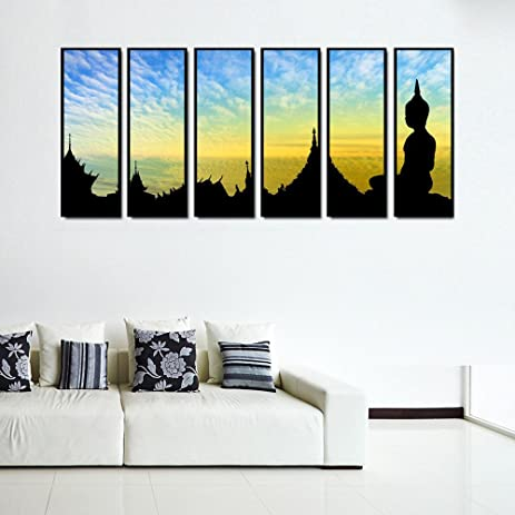 Amazon.com: 999Store multiple frames canvas printed Silhouette ...
