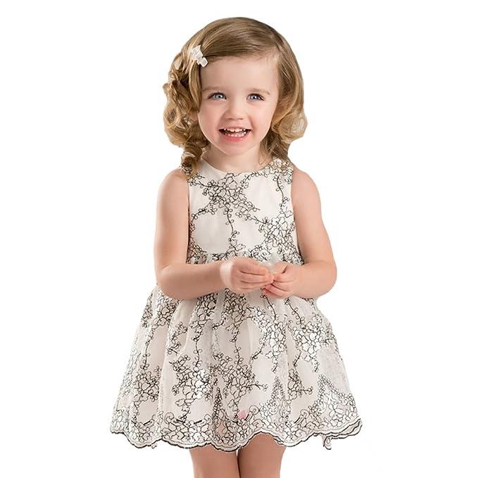 Vestido Bebé Chicas Flor 80store Verano Bordado Infantil Pera PXiZuk
