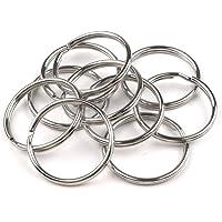 Nikgic 25 mm Metall Double Loop Split Key Ring Schlüsselringe Split-Ring-Schlüsselring für Schlüsselanhänger und Basteln 50 Stück