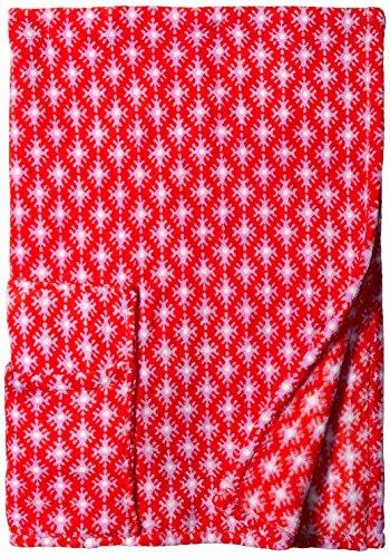 Vera Bradley Women's Fleece Travel Blanket, Petite Paradise Red (Patterns Fleece Blankets)