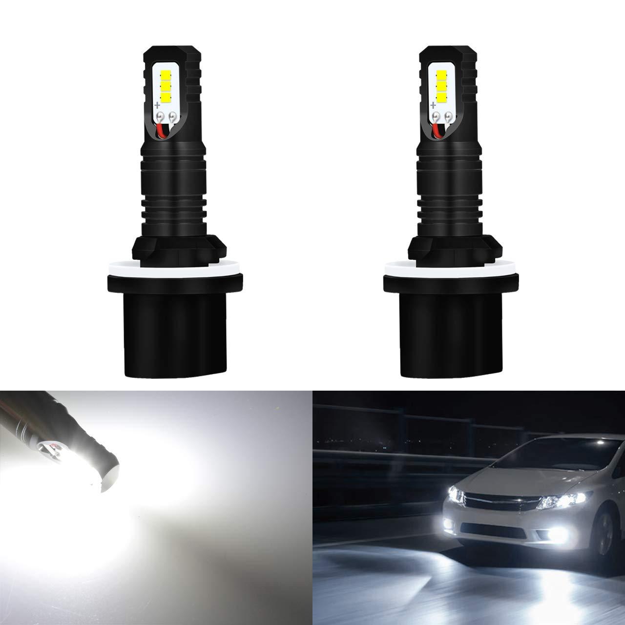 KaTur automobile - PSX24 - Feux de circulations diurnes LED - blanc xénon -LED en boîtier CSP de qualité supérieure - 80W/1600LM/6000K H16/5202