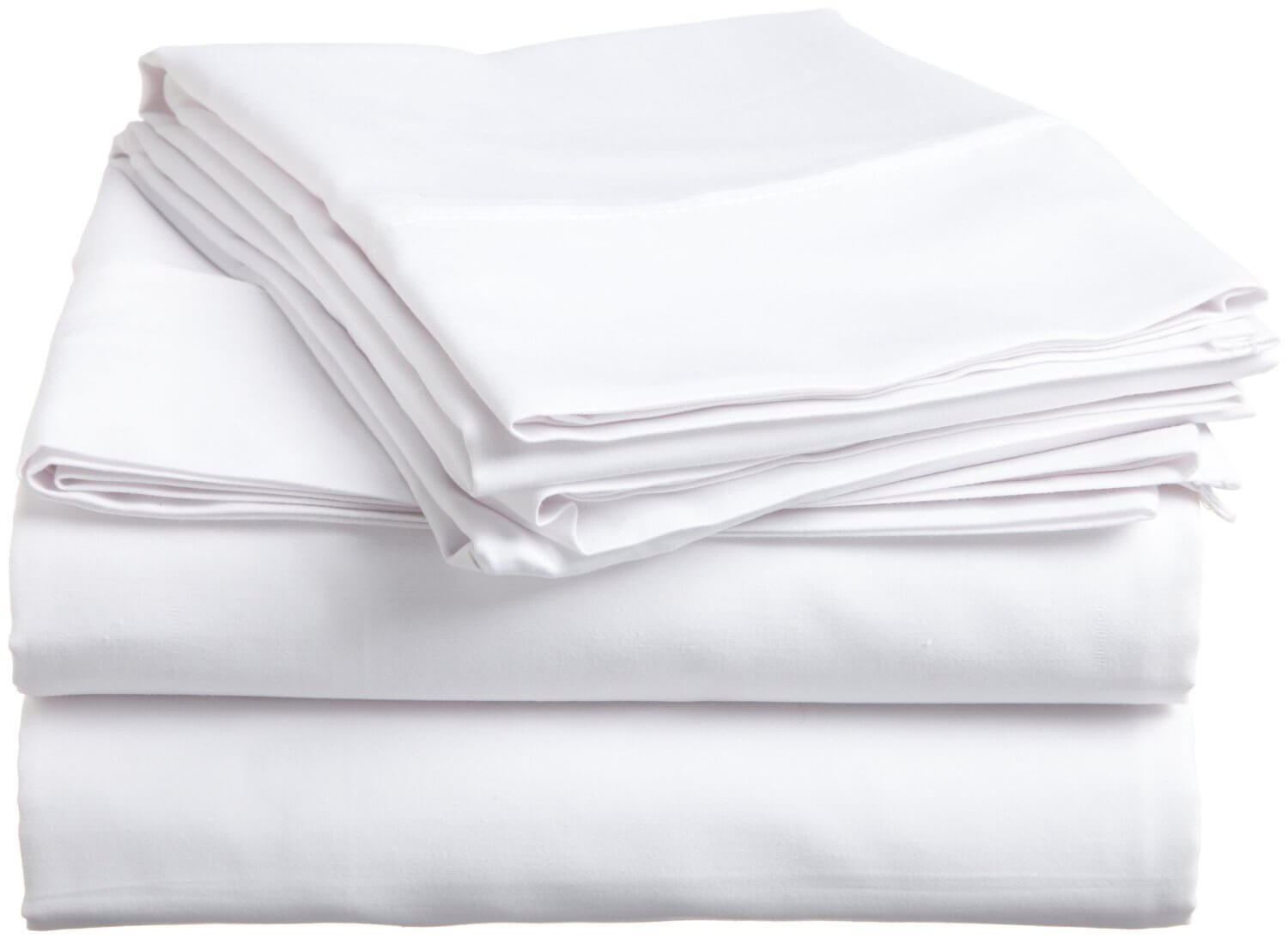 Twin Size White Flat Sheets, 130 Thread-Count 66'' x 102'' (1 dozen - 12 pc)