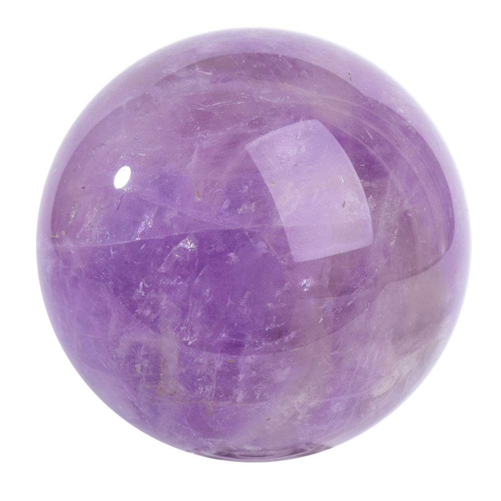 FENGJJ Crystal Ball -Natural Amethyst Quartz Crystal Sphere Ball Healing Stone with Delicate Stand, Home Accessories/Photography/Gifts/Collections,5cm