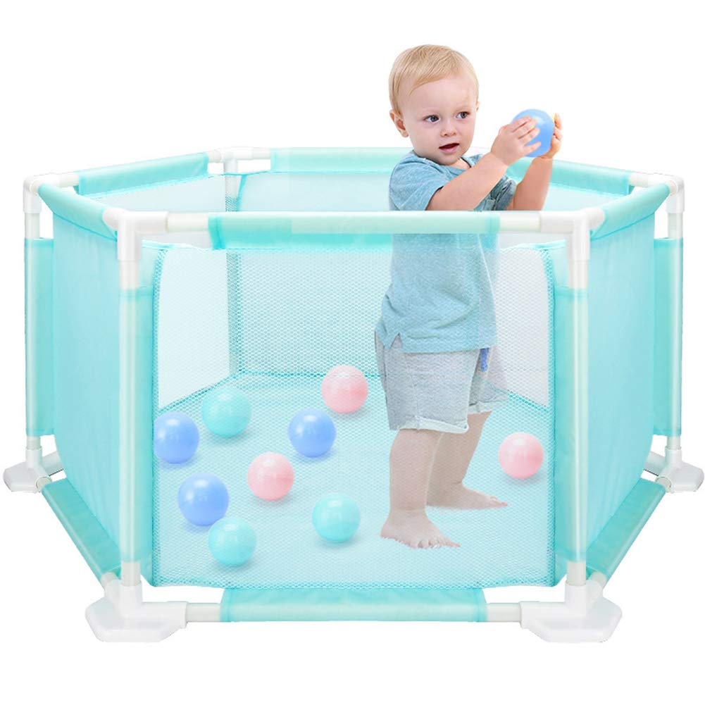 LVMAO Baby playpen,Hexagonal Children's playpen Baby Toys Safe Crawling Toddler Washable Marine Ball Pool Set by LVMAO