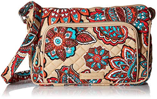 Vera Bradley Iconic Rfid Little Hipster Crossbody, Signature Cotton, Desert -