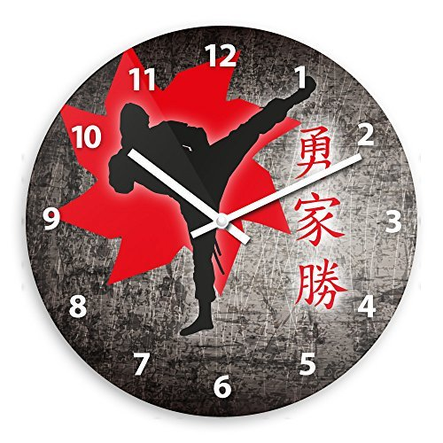 Ninja Wooden Wall Clock Silent Non-ticking Wall Clocks Decor