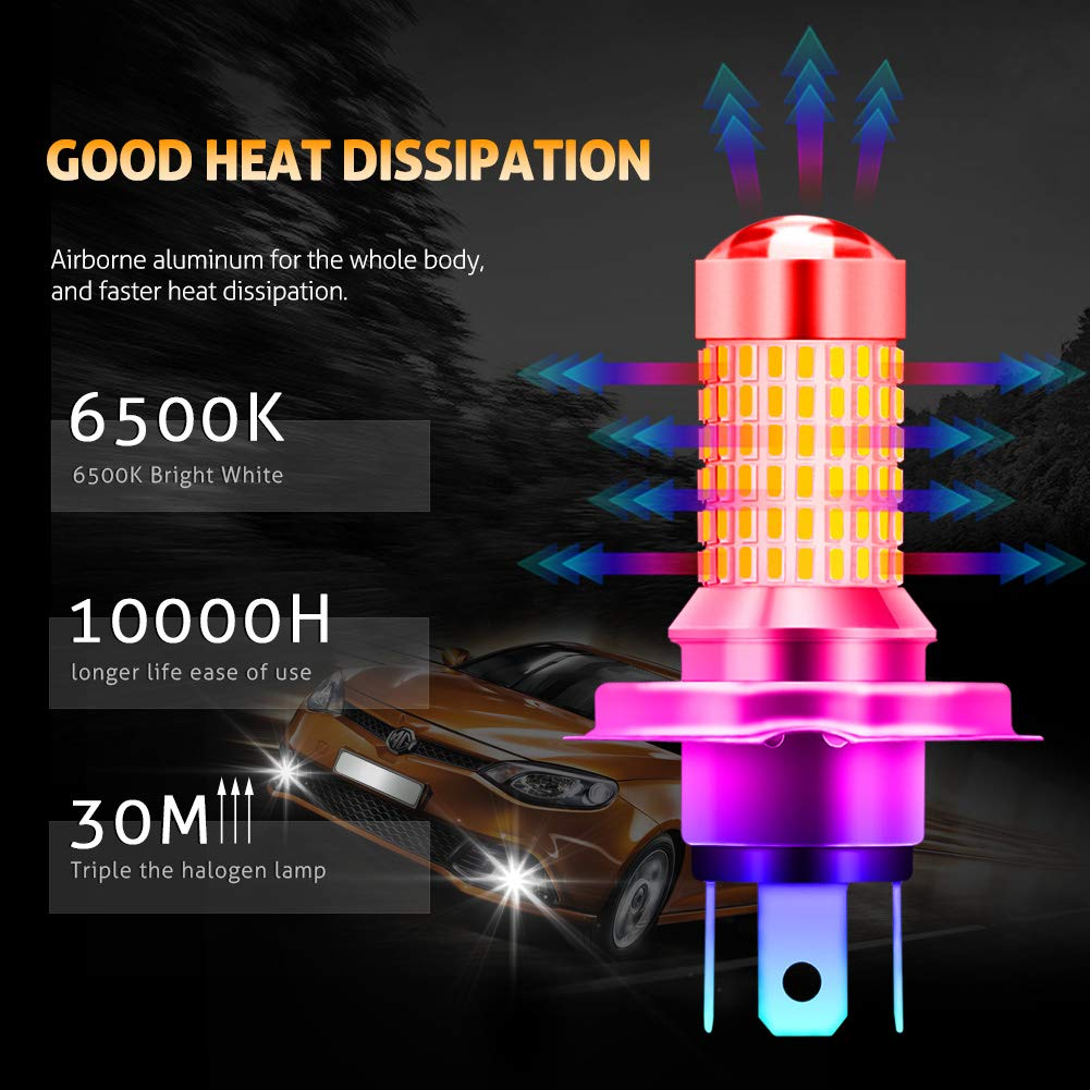 KaTur H10 9040 9050 LED Fog Light Bulbs Max 80W Super Bright 3000 Lumens 6500K Xenon White with Projector for Driving Daytime Running Lights DRL or Fog Lights,12V Pack of 2 24V