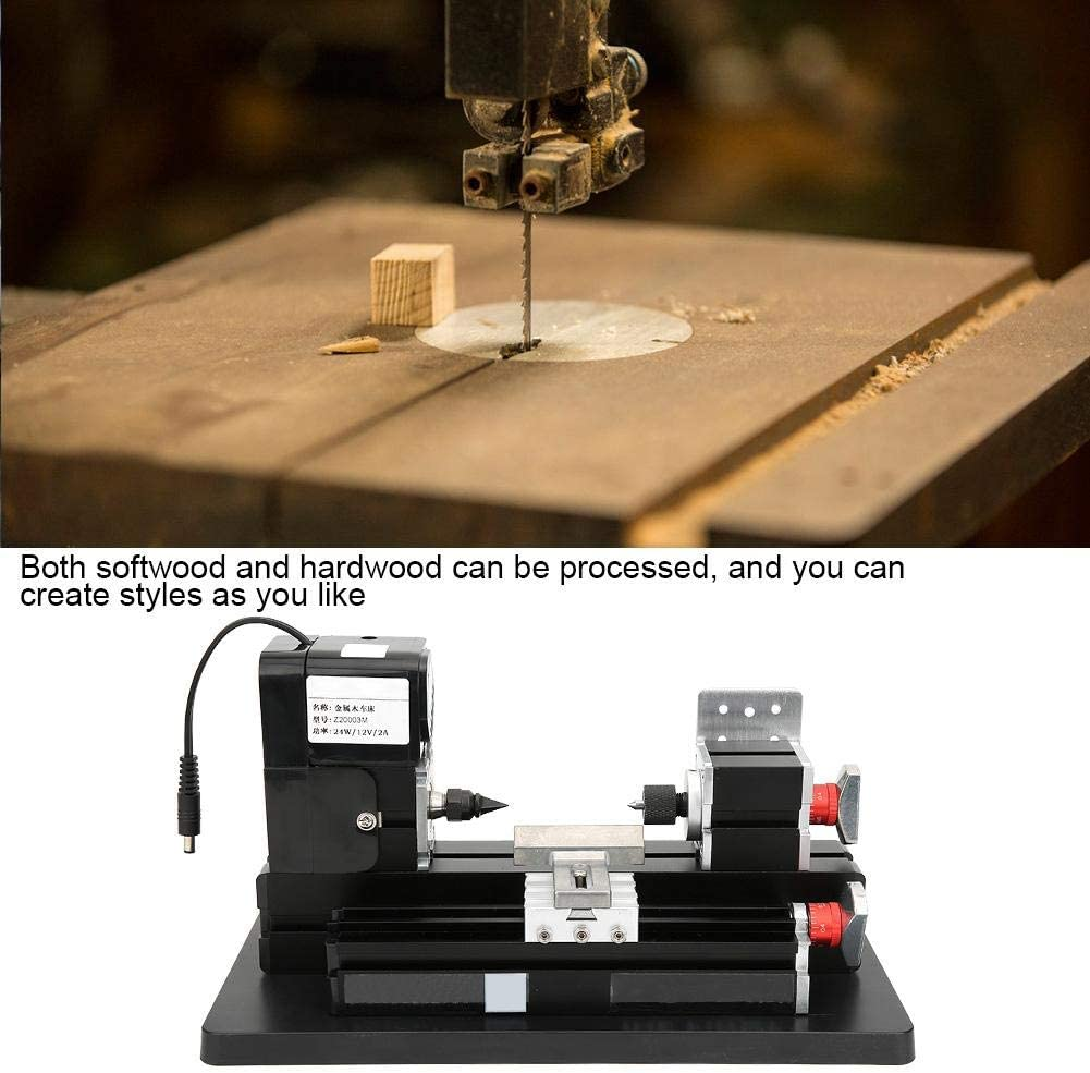 Metal-Working Machine 100-240V Practical Metal Wooden Lathe for Wood Working