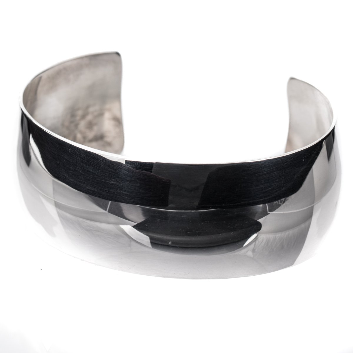 TSKIES Genuine Navajo Handmade Mirror Sterling Silver .925 High Polish Cuff Bracelet Native American Jewelry (Large)