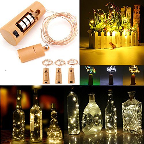 Lights & Lighting - Battery Powered 150cm Outdoor Led Cork Shaped Starry Light Wine Bottle Holiday Lamp For Xmas - Cork Shaped Led Lights Leds Bottle Wine Lighting Solar String Light - 1PCs