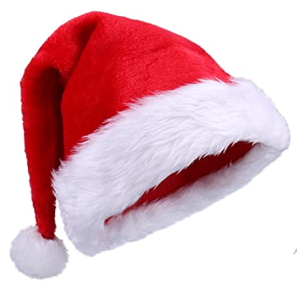 f42a084982cd5 Amazon.com  Plush Santa Hats for Christmas Party  Toys   Games
